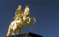 """Goldener Reiter"" (golden horseman) in Dresden, Saxony, Germany   -   Click to view a larger resolution image"